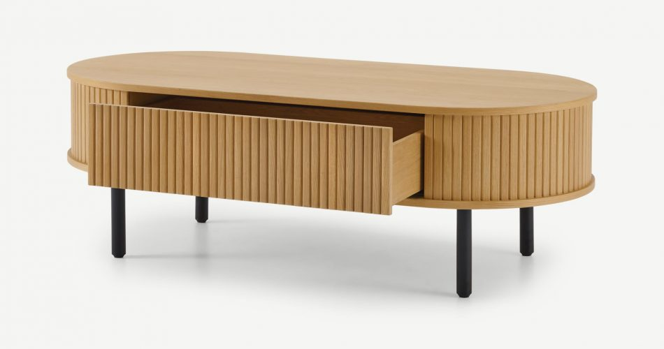 Coffee table with a storage drawer,Oak